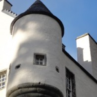 Pretty corbelled out turret with pinnacle roof -Edinample  Castle
