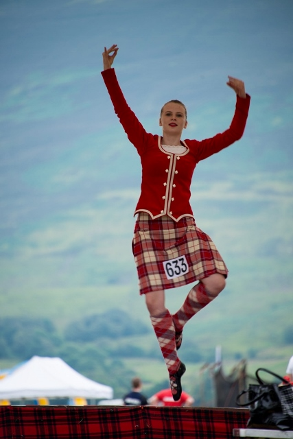 Dancer at Lochearnhead Highland Games