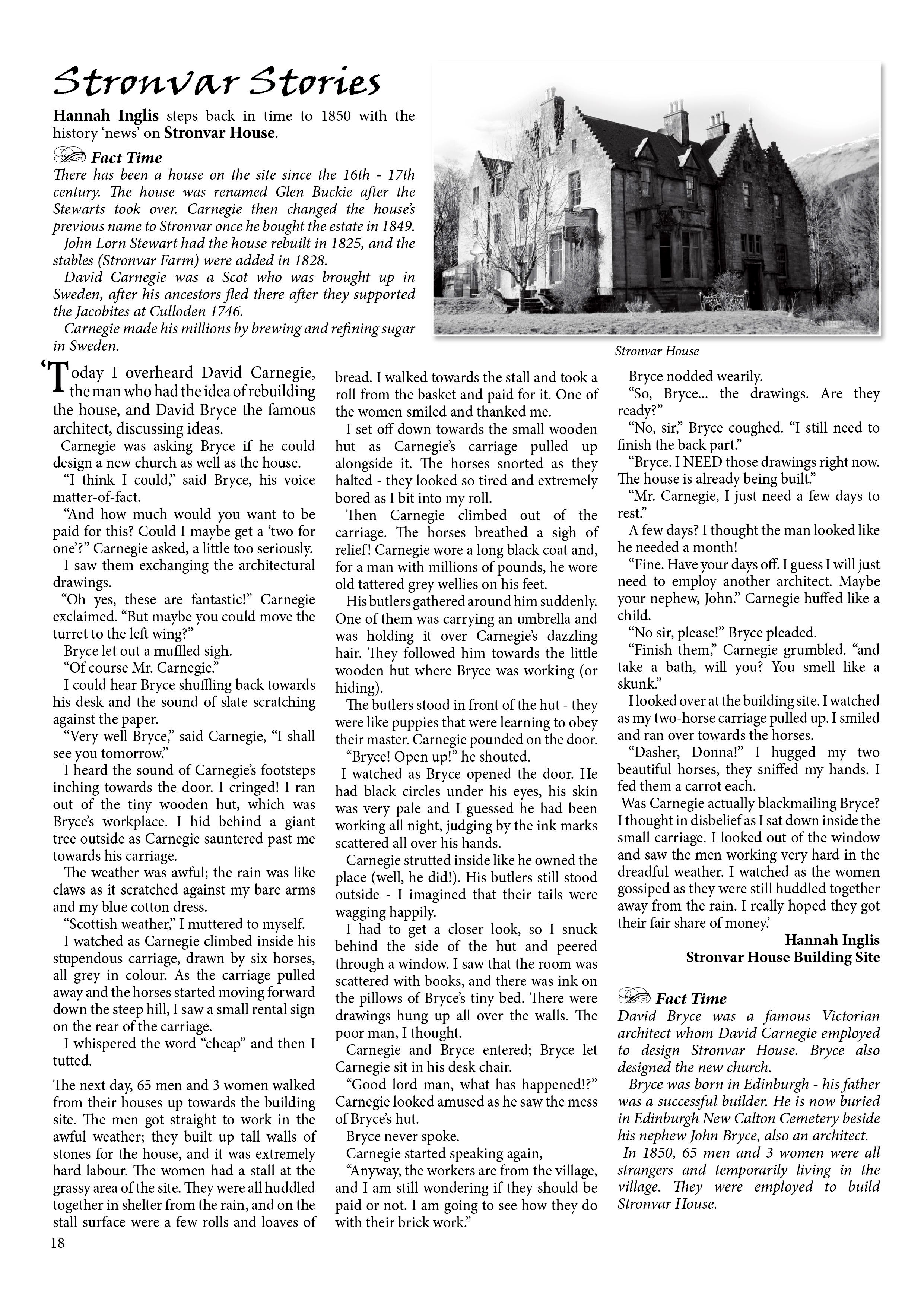 Stronvar House Stories 2 The Villagers Newspaper