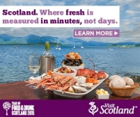 Visit Scotland digital banner -fresh fish